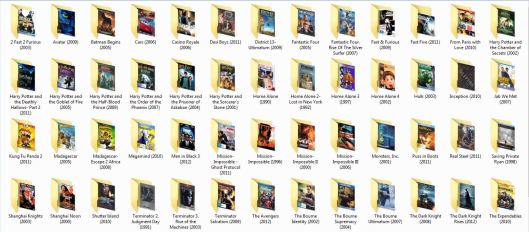 Movie Folders Organized - Windows